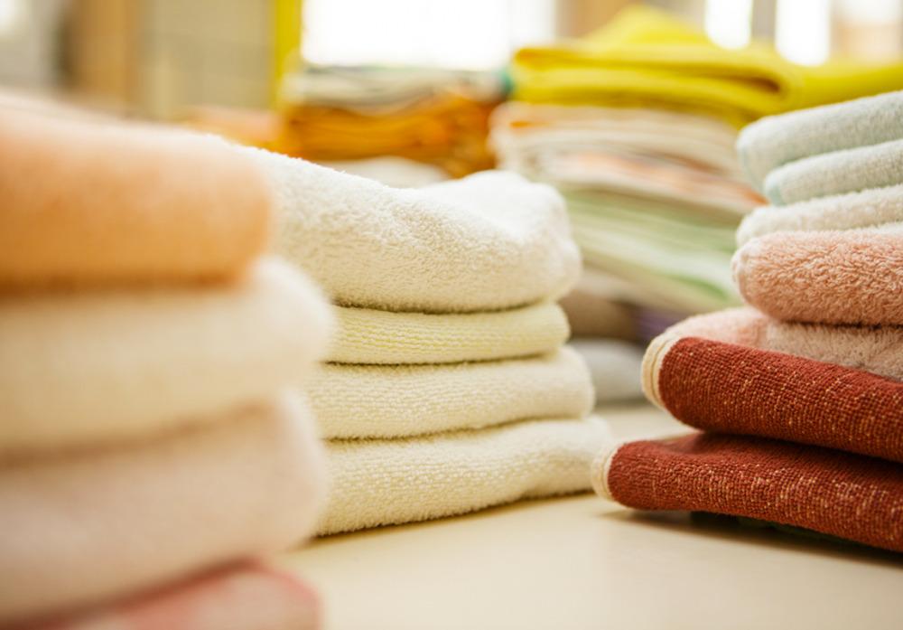 Frisch gebügelte Handtücher
