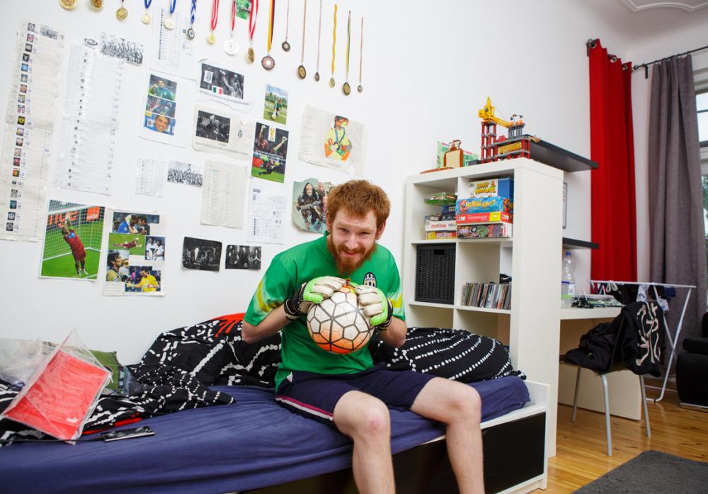 Zimmer vom Fußballfan