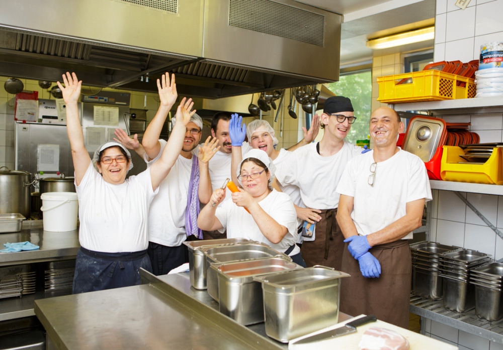 Das Küchenteam der Kaspar Hauser Stiftung