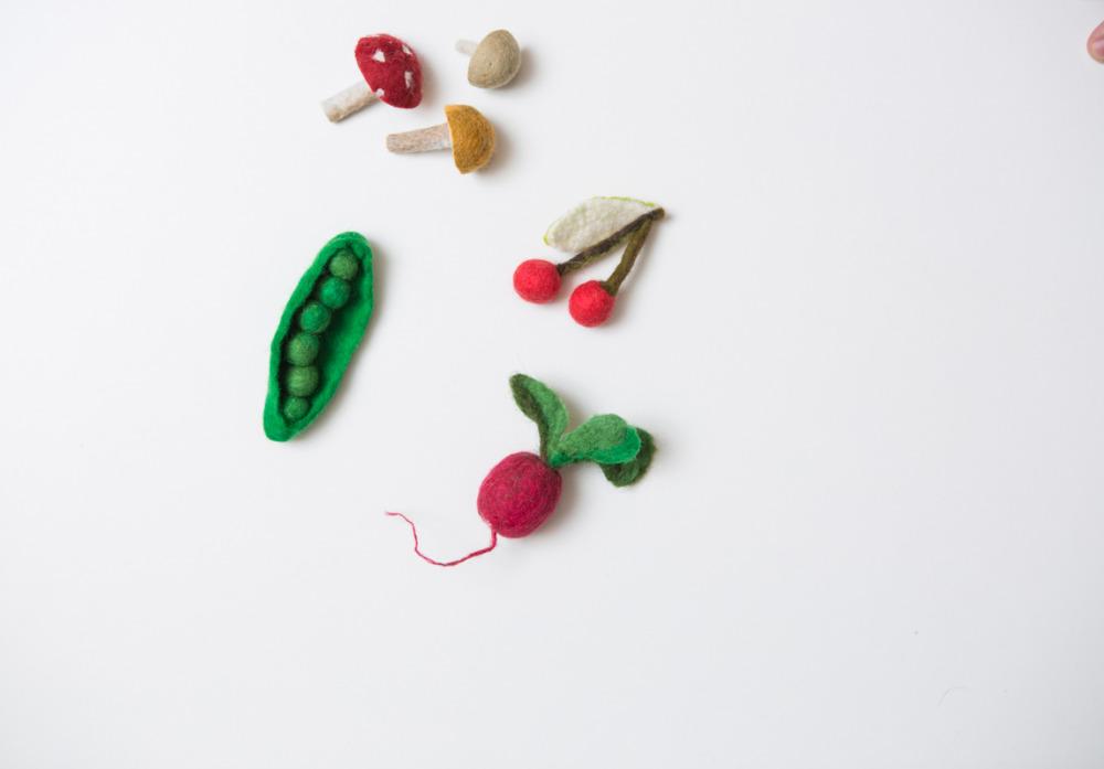 Obst und Gemüse aus Filz