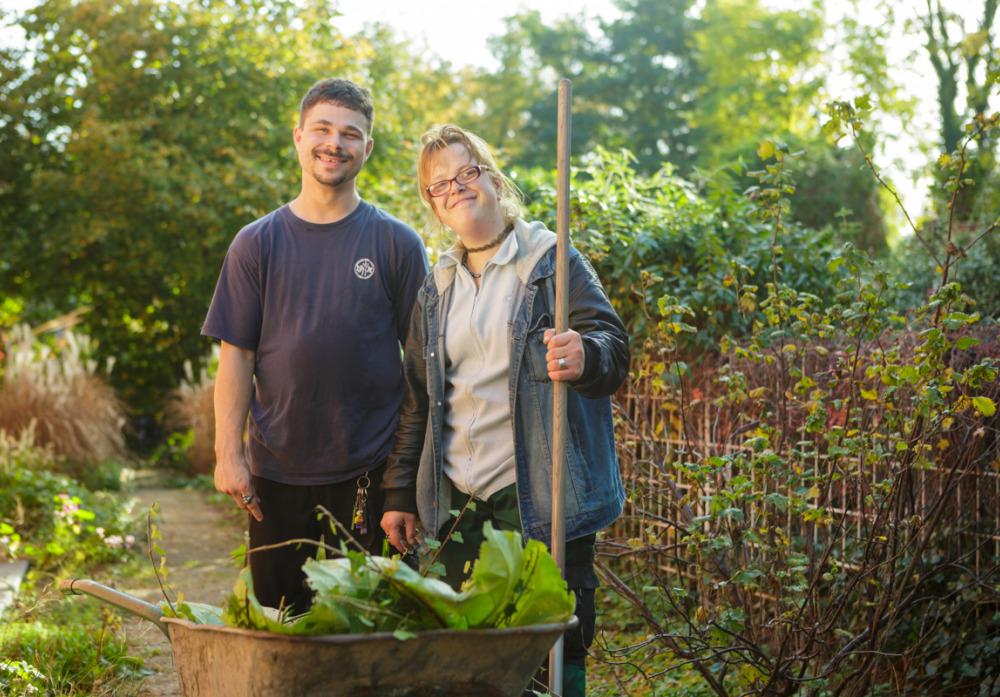 Beschäftigte der Gartenwerkstatt