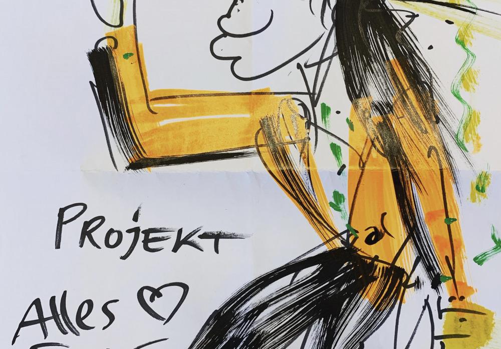 Zeichnung von Udo Lindenberg